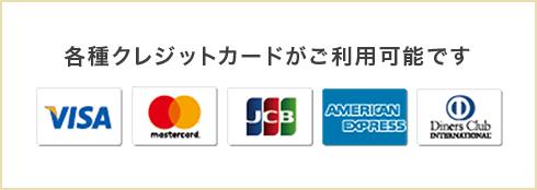VISA・master・JCB・AMERICAN EXPRESS・DinersClub